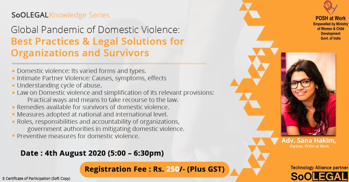 Global Pandemic of Domestic Violence: Best Practices & Legal Solutions for Organizations and Survivors.