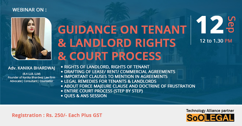 GUIDANCE ON TENANT & LANDLORD RIGHTS & COURT PROCESS