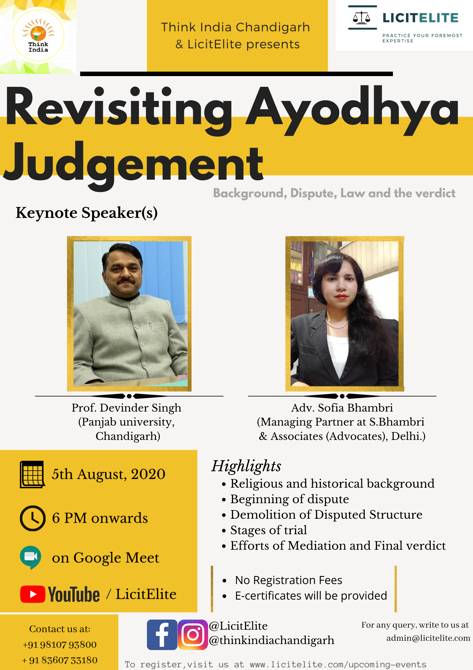 Webinar on Revisiting the Ayodhya Judgement