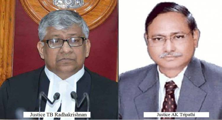 Justice TB Radhakrishnan appointed CJ of Andhra Pradesh & Telangana High Court, Justice AK Tripathi New CJ of Chhattisgarh HC