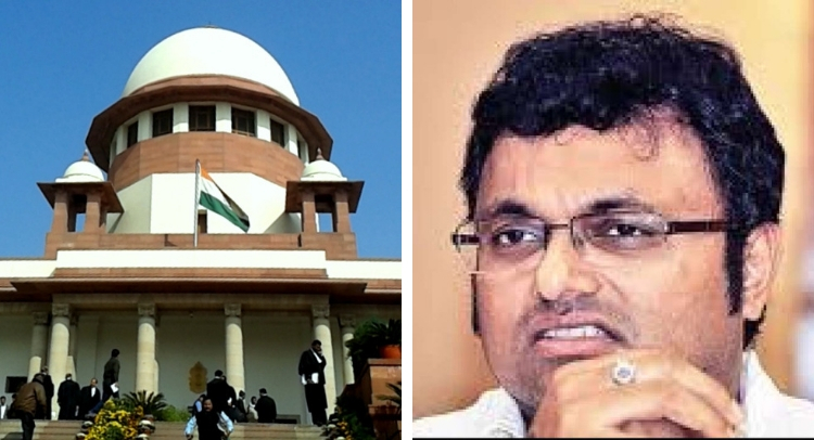 INX case SC allows Karti to go abroad but with conditions