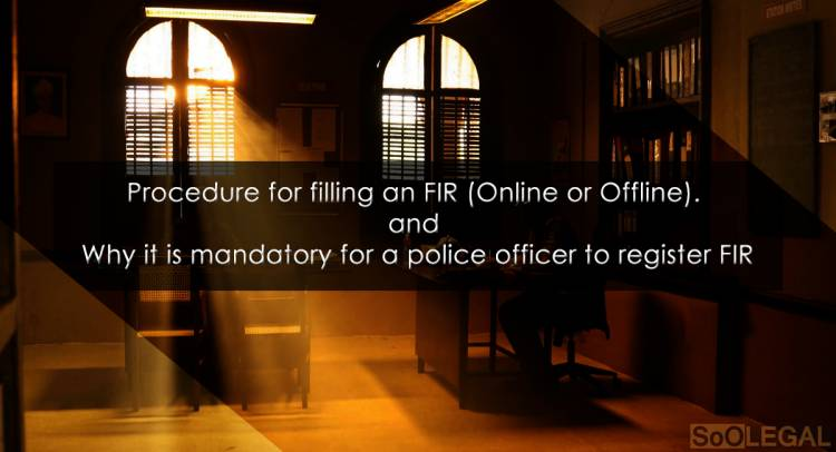 FIR (First Information Report) Section-154 CrPC - Its procedure and how it is mandatory for a police officer to file the report